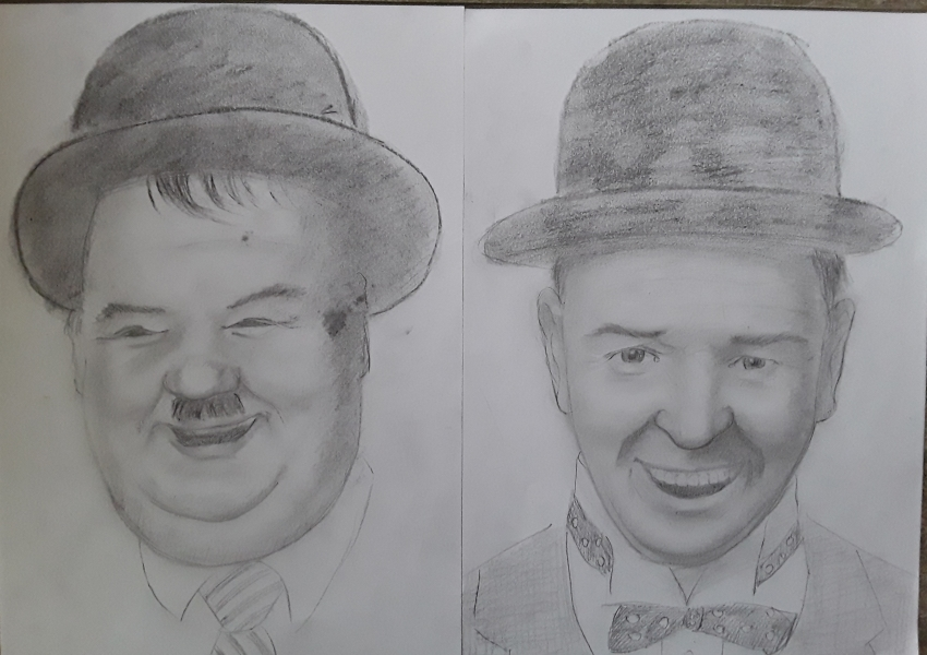 Oliver Hardy, Stan Laurel by Papero